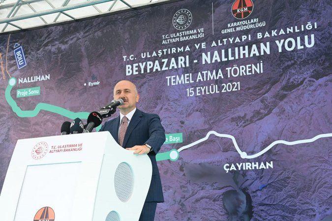 Karaismailoğlu Ankaralılara Müjdeyi Verdi! Beypazarı ve Nallıhan Arasındaki Süre 14 Dakikaya İnecek!