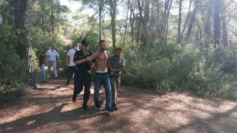 Manavgat Az Daha Yanıyordu! Ormanı Yakan Zanlı Suçüstü Yakalandı