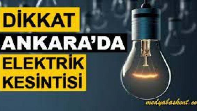 Ankara'da 11 Ekim Pazartesi Günü Elektrik Kesintisi Yaşayacak İlçeler: 11 Ekim 2021 Pazartesi Günü Güncel Elektrik Kesintisi!