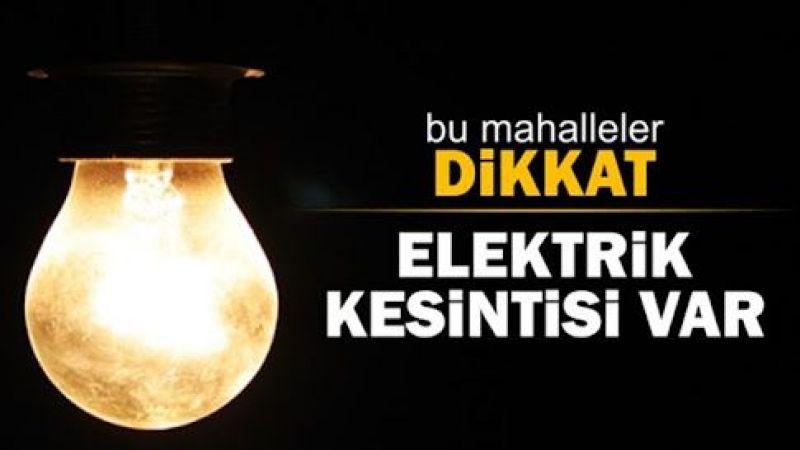 Ankara'da Elektrik Kesintisi! Birçok İlçede Elektrik Kesintisi Yaşanacak! 14 Ekim Ankara Elektrik Kesintisi