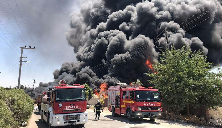 Gaziantep'te korkutan yangın! Evler önlem amaçlı boşaltıldı