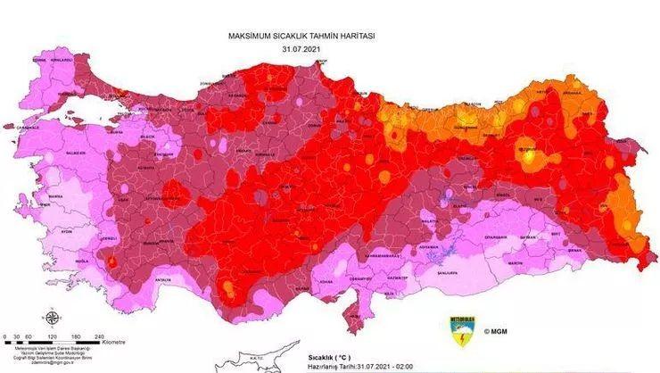 Aşırı sıcak alarmı! İşte o harita
