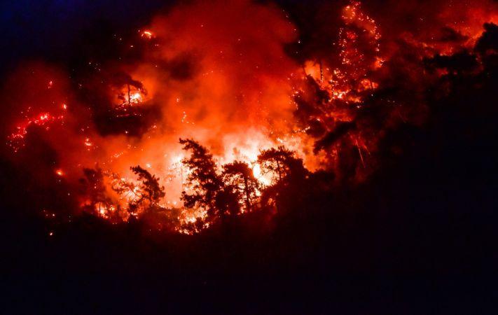 Marmaris'te Orman Yangını Devam Ediyor: Rüzgarın Şiddetiyle Yangın Büyüdü!