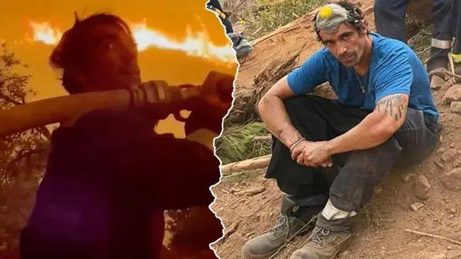 Orman yangınıyla mücadele eden İbrahim Çelikkol'dan mesaj var! 'Bir dağı kurtardık'