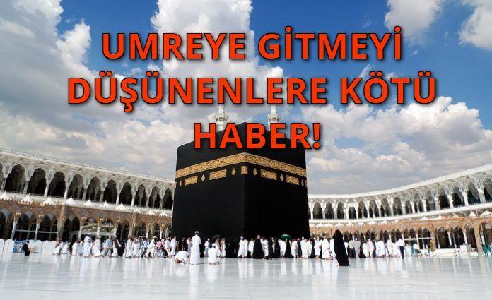 Türkiye'ye Umre İçin Korona Engeli! Türkiye'den Ziyaretçi Alınmayacak!
