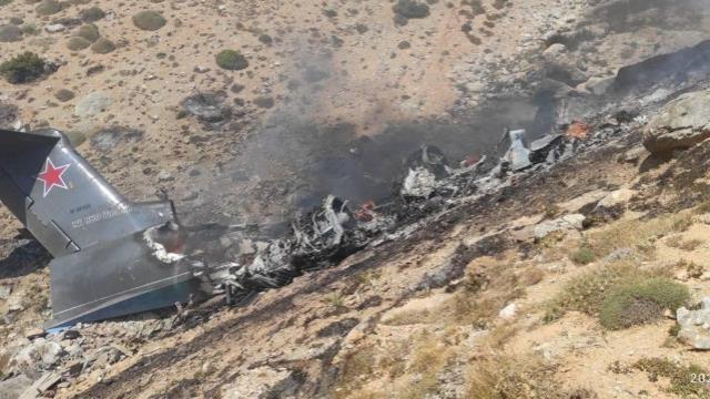 Kahramanmaraş'ta 8 kişiye mezar olan uçağın yanma anı görüntülendi!