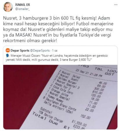 Nusret'in 3 burgere istediği fiyata tepki yağıyor! Ünlü isimler de isyan etti!