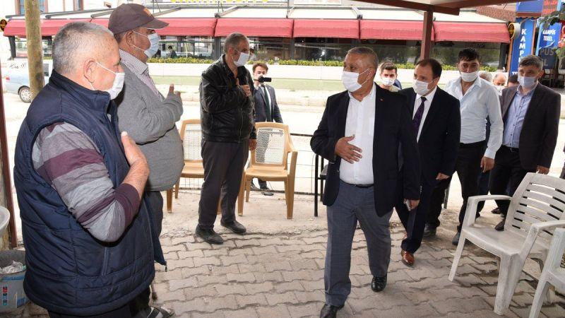 Mehmet Zeybek sanayi esnafını ziyaret etti, esnaf neler söyledi?