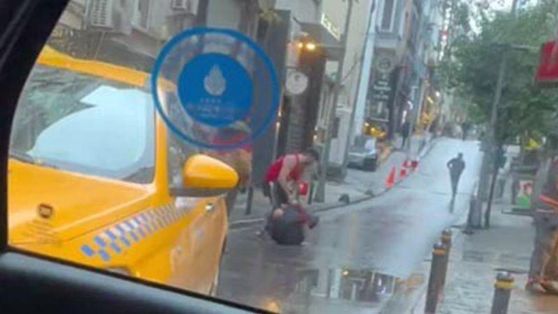 Amerikalı turist otel çalışanını sokak ortasında dövdü!