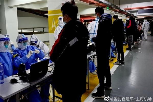 Pudong Havalimanı çalışanlarının hepsine Covid-19 testi yapılacak