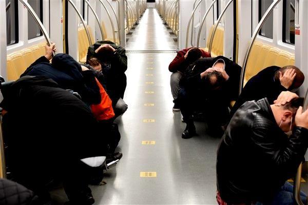 İstanbul Metrosu'nda deprem tatbikatı