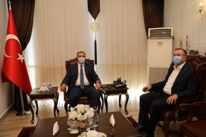 Başkan Balcı'dan Vali Kaldırım'a Ziyaret