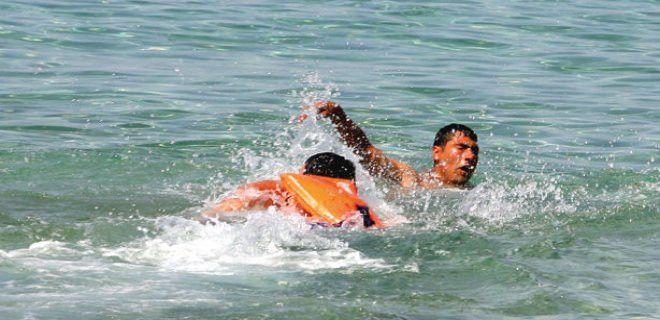 Karasu Sahilinde RİP akıntısı bir can daha alıyordu!