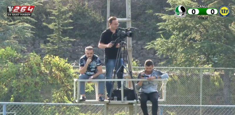 Başkan maçı kuleye çıkıp izledi