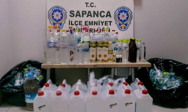 Sapanca'da sahte içki operasyonu: 2 gözaltı