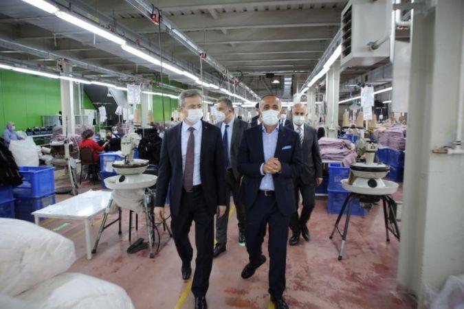 İŞKUR Genel Müdürü Aktürk, fabrikaları gezdi