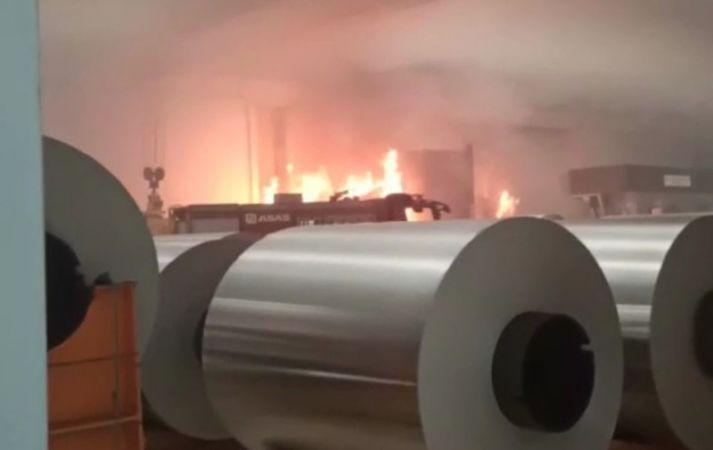 Fabrikada yangın paniği! Erken müdahale faciayı önledi