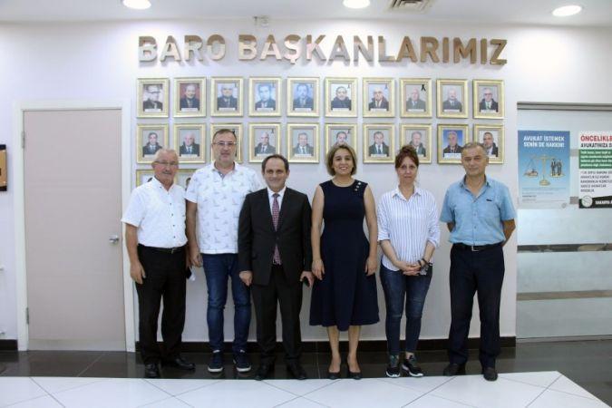 İl Başkanı Keleş'ten Baro Başkanı Yıldız'a hayırlı olsun ziyareti