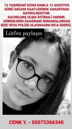 Misafirliğe gelen 13 yaşındaki kız Sakarya'da kayboldu