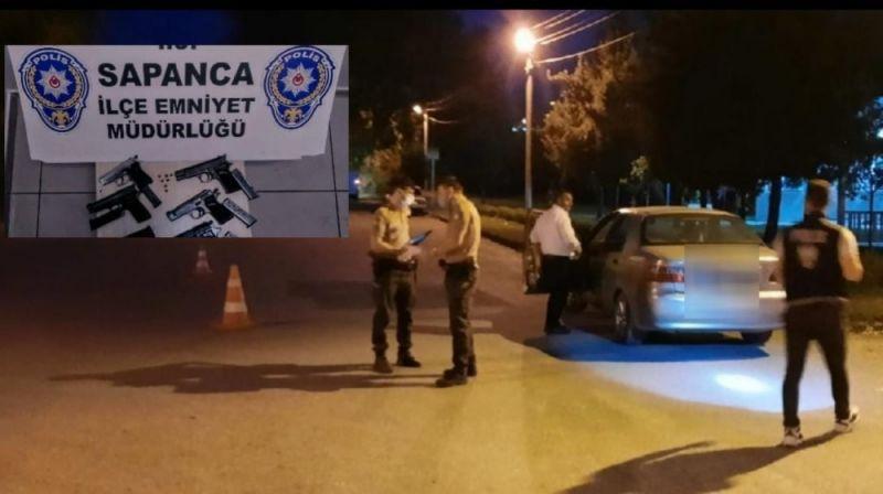 Sapanca'da bir haftada 9 silah ele geçirildi