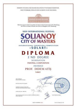 SAÜ'lü Prof. Atiş'ten Sanat Yarışmasında İkincilik Ödülü