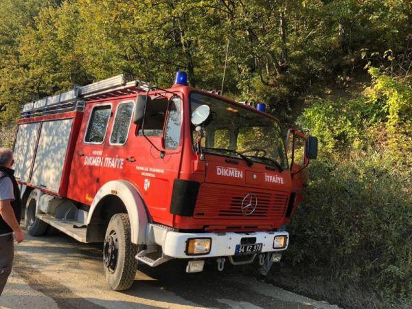 Tek katlı evde çıkan yangın itfaiye ekiplerince söndürüldü