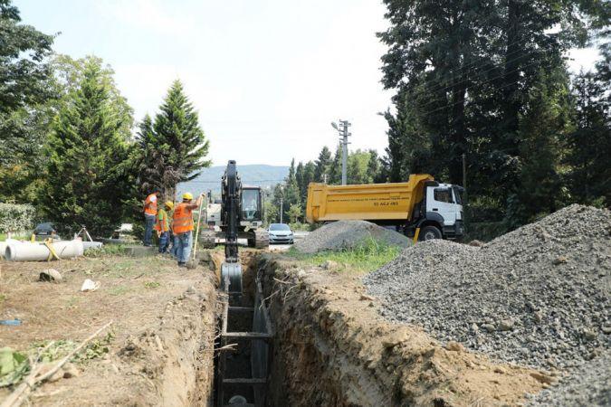 Büyükşehir Yanık Mahallesi'ne 4 bin 850 metrelik kanalizasyon hattı kazandıracak