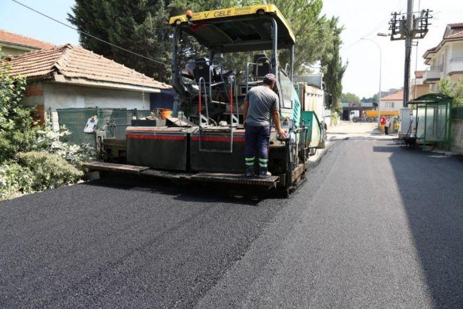 Otuzikievler'de asfalt çalışmaları devam ediyor