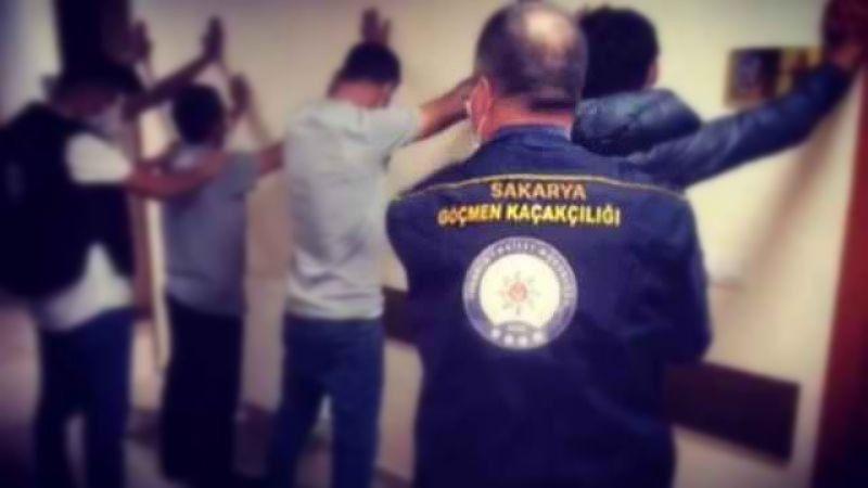 Sakarya'da yakalanan 14 kaçak göçmen sınır dışı edildi
