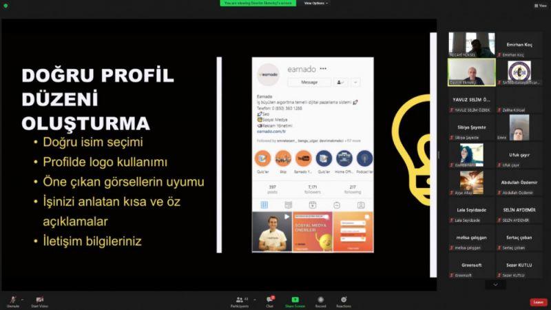 Sosyal Medya ve Google Reklamları SATSO'da Anlatıldı
