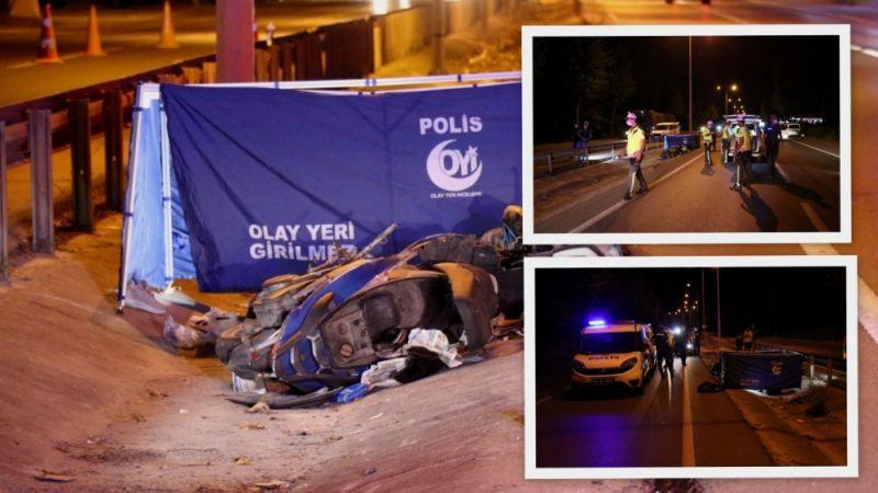 Çevre yolunda feci kaza: 1 ölü, 1 yaralı