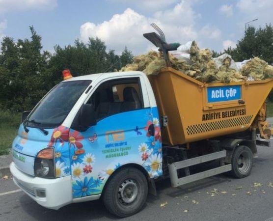 Arifiye Belediyesi çöp taksi uygulaması başlattı