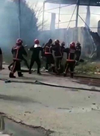 Yangın Sonrası İtfaiyecilere Saldırmışlar
