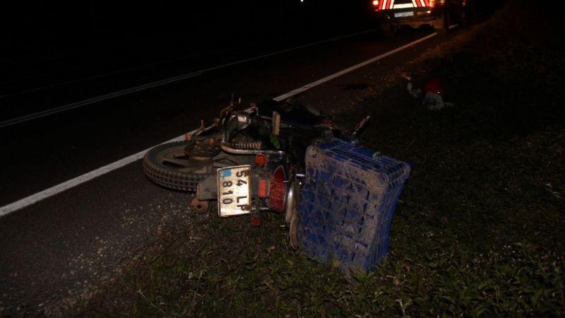 Taraklı'da motosiklet kazasında ağır yaralandı