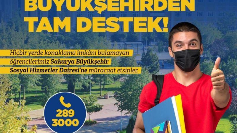 Sakarya'da konaklama sorunu yaşayan öğrencilere destek hattı