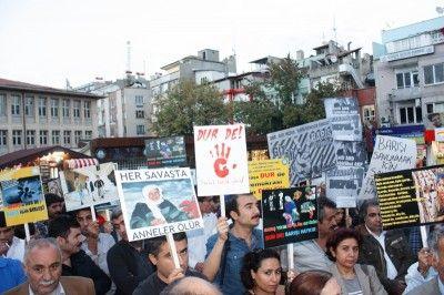 Gaziantep'te ' Savaş Tezkeresine Hayır ' Eylemi...