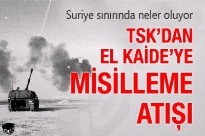 Gaziantep Hava Sahasında Alarm Verildi.Kilis Yakınlarına Havan Mermisi Düştü.