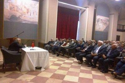 Sabih Kanadoğlu Gaziantep'teydi. Andımızı Okudu