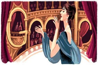 Google, Dünyanın En Güzel Sesi Maria Callas İçin Dood'le Hazırladı.