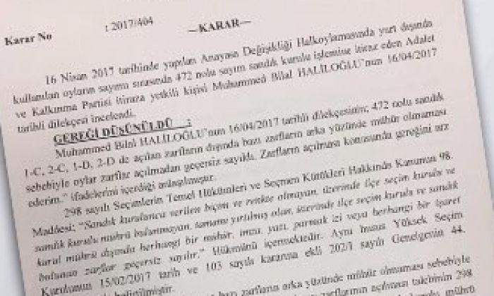 YSK'dan bir skandal karar daha