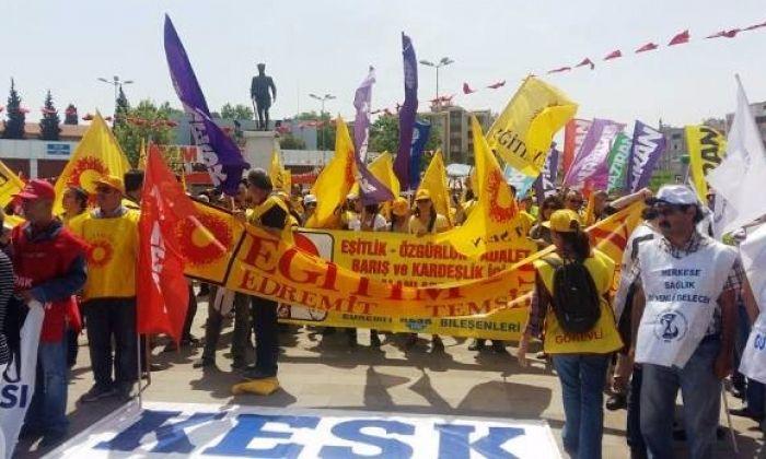 Edremit'de Coşkulu 1 Mayıs ( FOTOĞRAFLARLA)