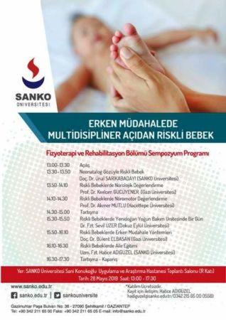 SANKO ÜNİVERSİTESİ'NDE 28 MAYIS'TA SEMPOZYUM DÜZENLENECEK