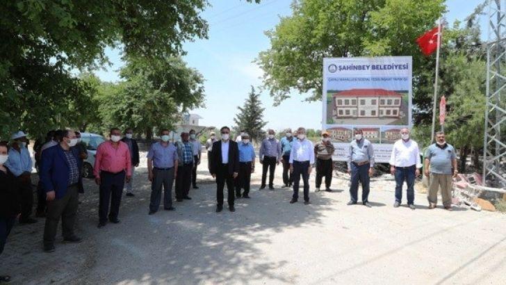 Şahinbey'den Çapalı Köyüne Sosyal Tesis