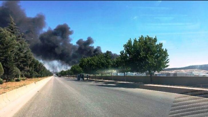Gaziantep Organize Sanayideki  Yangın Söndürüldü