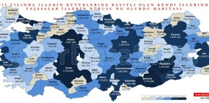 Tek haritalık Gaziantep haberi.  Nüfusu kaç oluyordu