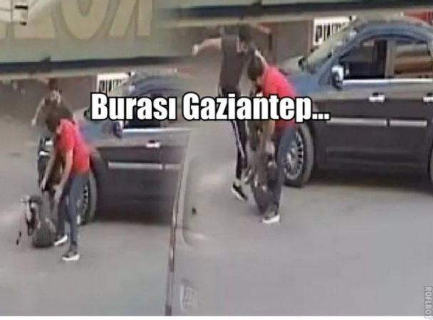 Gaziantep Trafiğinde Feci Dayak...