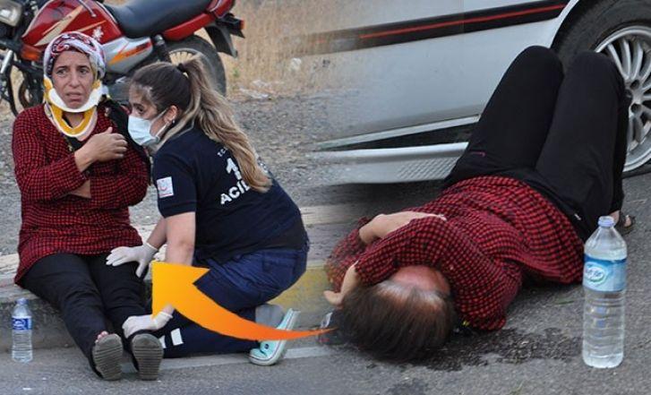 Gaziantep'te Kadın Sürücü Köpeğe Çarpmak istemedi. Otomobil Takla Attı
