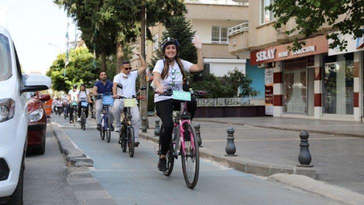 Gaziantep'te bisikletli ulaşım farkındalık turu