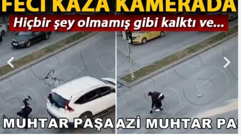 İşte Gaziantep'teki O Kaza.Hiçbir Şey Olmamış Gibi Kalktı Ve...